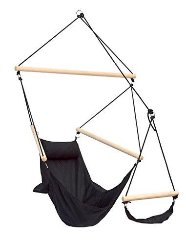 Amazonas AZ-2030580 Chaise-hamac Swinger charge 120 kg (Noir)