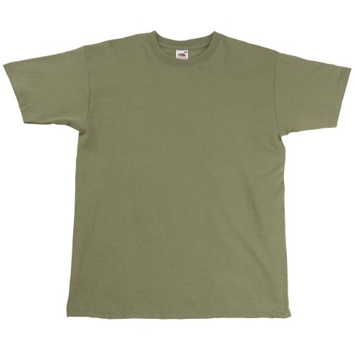 Fruit Of The Loom Herren Super Premium Kurzarm T-Shirt Khaki