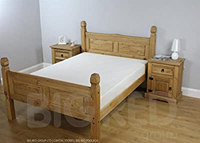 "Corona Mexican 4'6"" Bed High Foot End produced by Capital Stores - quick delivery from UK."