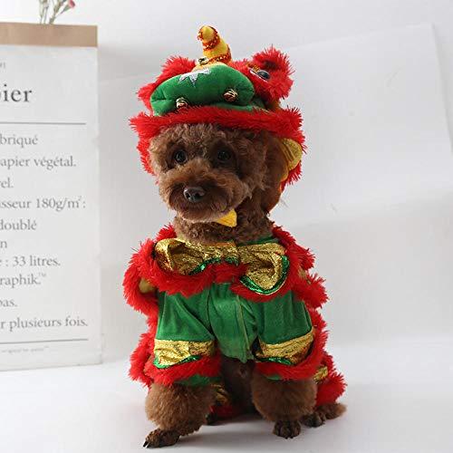 WLBD Hundebekleidung Bulldogge Hundelöwe Tanzkleidung Hund Teddybär Haustier Keji lustige Löwen Gesetz Kampf lustige Herbst und Winter A XL x kleine - Lustig Gesetzes Kostüm