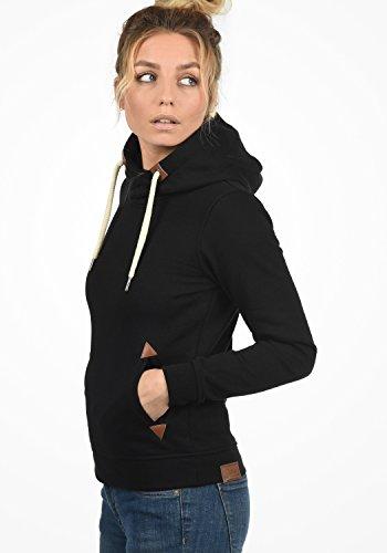 DESIRES VickyHood Damen Damen Hoodie Kapuzenpullover Pullover Mit Kapuze Cross-Over-Kragen Und Fleece-Innenseite, Größe:S, Farbe:Black (9000) - 3
