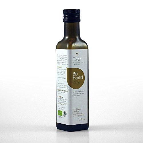 *Hanföl Bio Kaltgepresst von ELEON • Reines Bio Hanföl Kaltgepresst • Mühlenfrisches Hanfsamenöl • Ideal zum Cholesterin senken & gegen Neurodermitis*