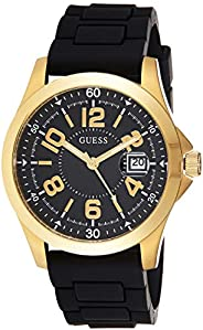 GUESS Mens Quartz Watch, Analog Display and Silicone Strap GW0058G2