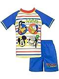 Disney - Maillot de Bain Deux pièces - Mickey Mouse - Garçon - Bleu - 18-24 Mois
