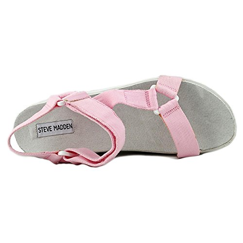 Steve Madden Wreck It Femmes Toile Sandales Compensés pink