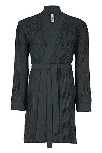 Taubert Spa Thalasso Short Kimono kurzer Bademantel 100 cm Pique XS Anthrazit Kimono-shorts