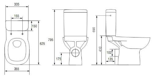 Domino ECO Stand WC mit Spülkasten - 2