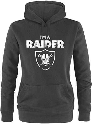 EZYshirt® I´m a Raider | American Football Damen Hoodie | Damen Kapuzenpullover | Damen Pullover (Niners Sweatshirt)