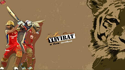 Athah Designs Cricket Poster Yuvraj Singh Virat Kohli Rcb Wall Poster 13*19 inches Matte Finish  available at amazon for Rs.249