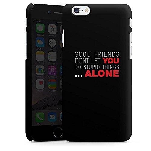 Apple iPhone X Silikon Hülle Case Schutzhülle Freunde Freundschaft Statement Premium Case matt