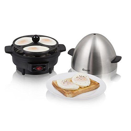 41UdqIKFvxL. SS500  - Swan SF21020N 7 Egg Boiler and Poacher, Featuring 3 Cook Settings, 350w, Black/Stainless Steel