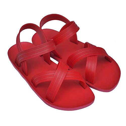 XINGXINGFAN Sandalias de goma del Color sólido Romano del Verano Nuevo de las Mujeres simples convenientes para EL ocio al aire Libre del entretenimiento que camina (De Prendas Vestir)