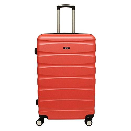 Hartschalen Reisekoffer QTC MAILAND B Trolley Case M L XL Reise Tasche Koffer (L (67 cm ), Pink) Neonorange