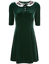 Hell Bunny Merrily Mini Dress Vestido Verde
