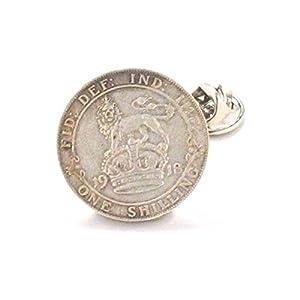 Britischen Schilling Krawatte Stift Anstecknadel Anzug Flagge England Silber Lion Queen Großbritannien UK Army Military Union Jack