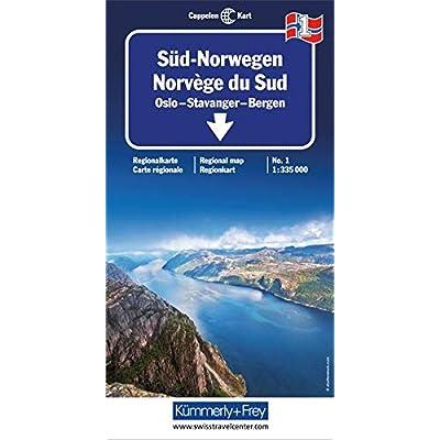 Carte routière : Norvège Sud