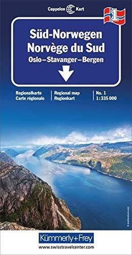 Kümmerly & Frey Karten, Süd-Norwegen: Oslo, Stavanger, Bergen (Kümmerly+Frey Reisekarten) (Karten Norwegen)