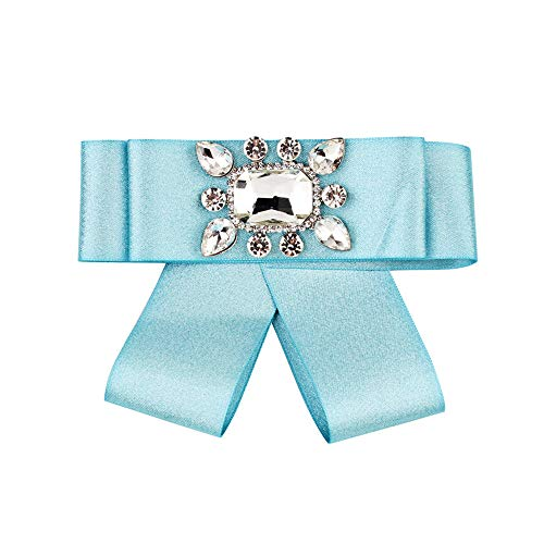 Syeytx Mode Einzigartige Künstliche Edelstein Mädchen Mehrschichtige Neuheit GROßEN Bogen Bowknot brosche Krawatte Geschenk (Bogen-krawatte Jungen, Grünen)