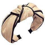 Dorical Haarband Yoga Headband Hairband Damen Stoff Haarreif mit Schleife-Vintage-Wunderschön Stirnband,Haarschmuck Haarreif mit Schleife-Vintage-Wunderschön Stirnband (One Size, Z001-Rosa)