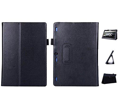 Hülle für Lenovo Tab 10 TB-X103F 10.1 Zoll Tablet Schutzhülle aus Kunstleder Smart Cover Flip Case Schwarz