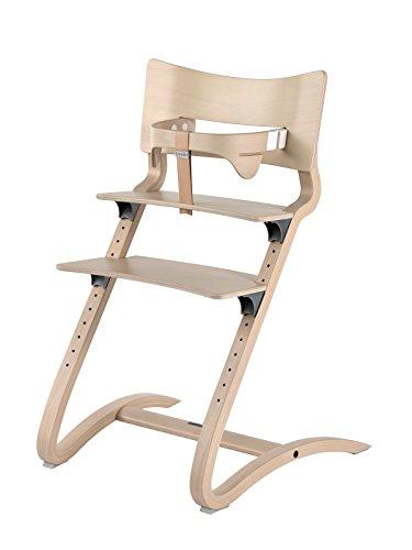 Leander silla White Wash–Trona–Silla infantil–Silla adultos con Baby plancha + bandeja color blanco + kisse Vainilla