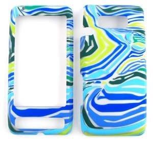 Blau/Grün Zebra Print Design Sony Handy Fall Faceplate Cover für LG Fathom (VS750) Fall Faceplate