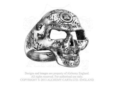 Anello–Omega Skull usato  Spedito ovunque in Italia