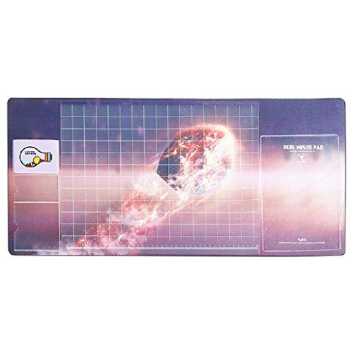 multifonction Tapis de table, Doulukit PVC pour carte Manomètre à cadran XXL clavier Motif Unique Tapis de souris (700* 330* 2mm), a, 700*330*1.8mm