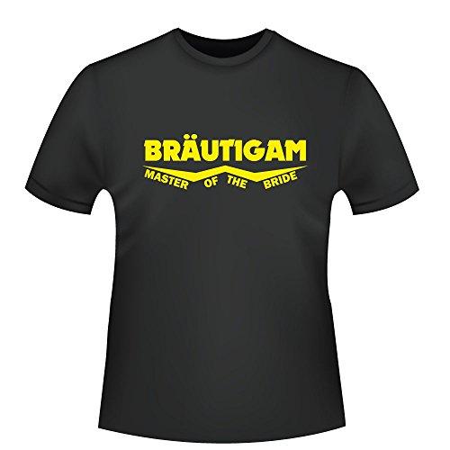 Bräutigam - Master of the Bride, Herren T-Shirt - Fairtrade - ID104087 Schwarz