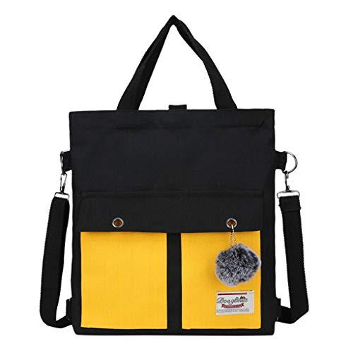 KaloryWee Umhängetasche Clutch Bag Student Rucksack Multifunktionale Segeltuchtasche Große Kapazität Drei-Verwendungs 3 way