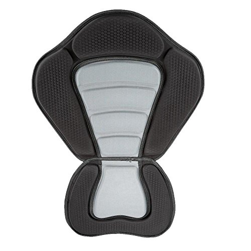 Docooler Gepolstert Kajak Boot / Sitzkissen weich und Rutschfest Gepolsterte Basis hoher Rückenlehne Verstellbar Kajak mit Rückenlehne