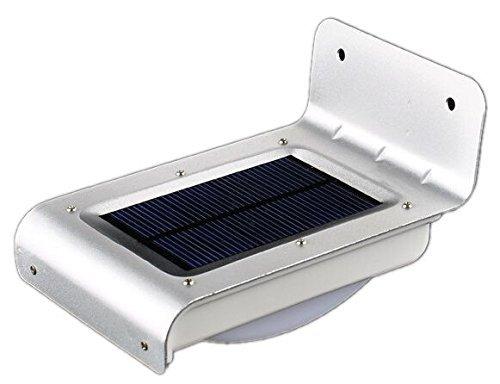 Luce con sensore di movimento, 16 LED brillanti, alimentazione solare senza fili, impermeabile e senza batterie