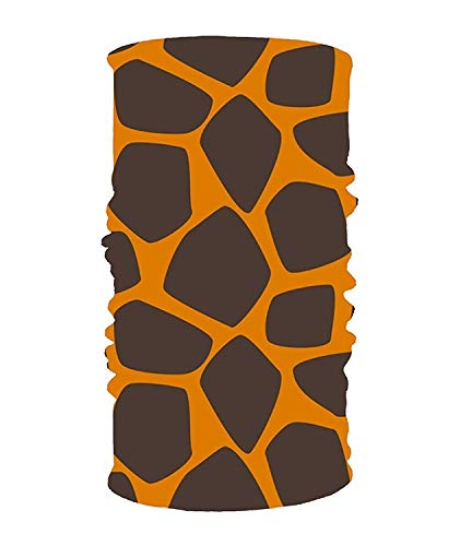 CHSUNHEY Stirnbänder Haarschmuck,Giraffe Skin Elastic Cool Seamless Magic Scarf Headband,Face Mask,Balaclava Bandana UV Resistence Sport Headwear for Outdoor Sports Cool Skin Balaclava