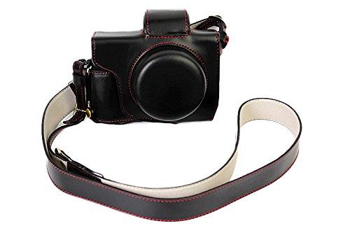 Volle Schutzunterseite Version Schutz PU Leder Kamera Fall Für Olympus OM-D E-M10 Mark 3 EM10 Mark III mit 14-42mm F3.5-5.6 EZ objektiv Schwarz