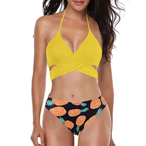 Asalinao Push Up Bandeau Bikini Set Damen Push Up Badeanzug Größen erhältlich -