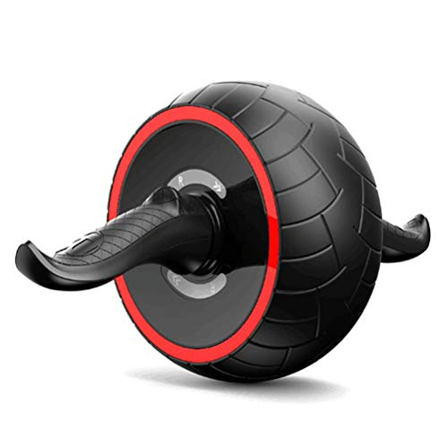 Good Times Ab Wheel, AB Roller mit selbst einziehbarem Rad, Ab Wheel Roller mit Knieauflage, Bauchtrainer mit Kniematte, Bauchroller, Bauchmuskeltraining, Muskelaufbau, Muskeltrainer (Rot, 20cm Rad)