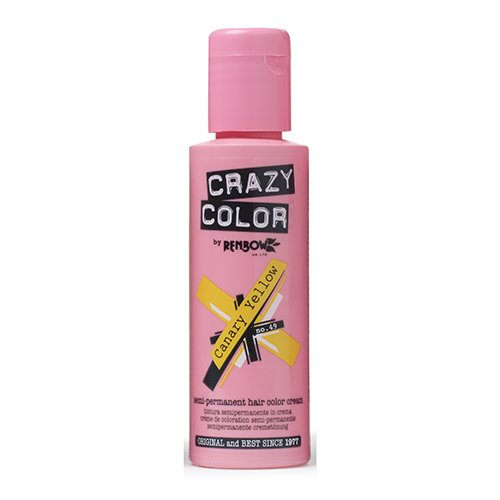 Crazy Color Canary Yellow Nº 49 Crema Colorante del Cabello Semi-permanente