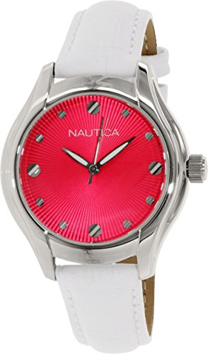 Nautica Women's N10508M White Leather Quartz Watch