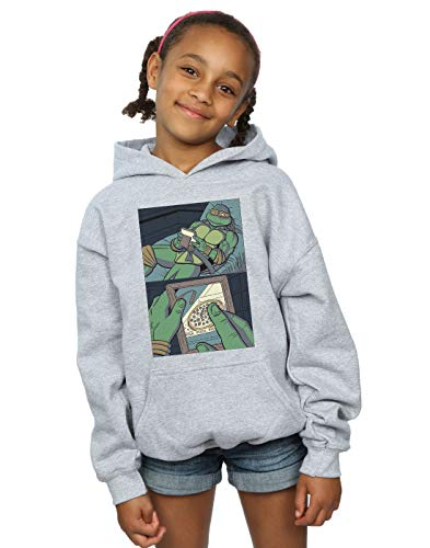 Absolute Cult Pennytees Mädchen Longing for Pizza Kapuzenpullover Sport Grau 12-13 years