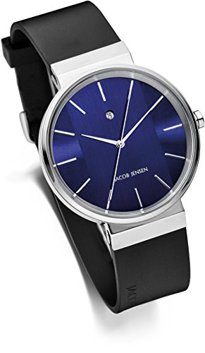 Jacob Jensen Unisex-Adult Analogue Quartz Watch with Rubber Strap JJ709