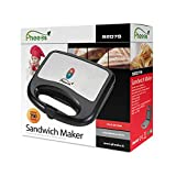 Pheebs Non-Stick Grill Sandwich Maker -750 watt, Heating Plates Sized 18.4 cm and 9.3 cm, Easy to Clean, Maintain with Cool Touch Handle and lid Lock