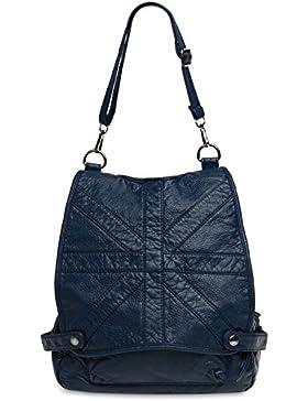 CASPAR TS1020 Rucksack Tasche aus gewaschenem Kunstleder