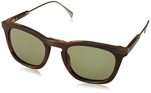 Tommy hilfiger th 1383/s dj qet 51, occhiali da sole uomo, oro (horn gold/green)