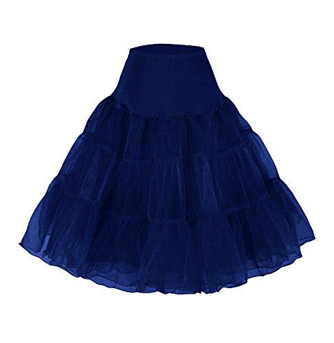 Petticoat Unterrock 50er Jahre Kleid Tutu Petticoat Krinoline Kleid Hoopless net Petticoat Skirt Crinoline Vintage Retro 50s tüllrock Kinder Rockabilly Mehreren Farben Röcke Vintag Swing pin up Kleid
