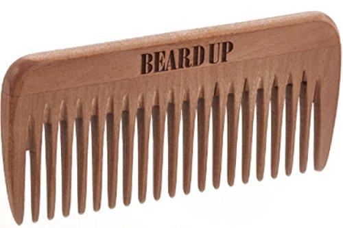 Beard Up Bartkamm 8,5cm Mittel I Richtige Gesichtspflege, Bartwachs verteilen I Taschenformat, Made in Germany I Holzkamm, E-Book, Männergeschenk