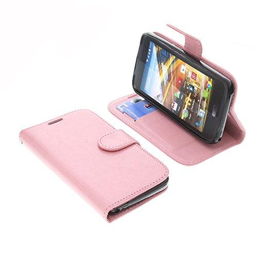 foto-kontor Tasche für Archos 45 Neon Book Style Pink Schutz Hülle Buch