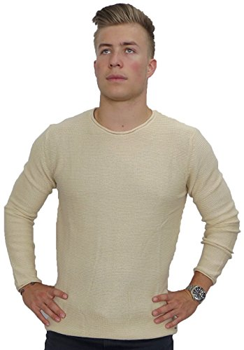 Solid Herren Pullover Knit - Jarah Angora