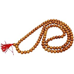India Oración de Brown Rosario meditación espiritual tibetano Japa Mala