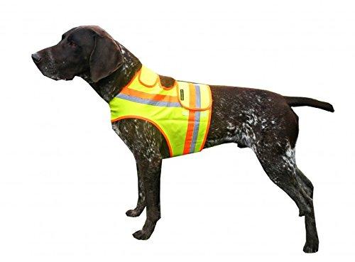 Hunde Warnweste mit Reflektionsstreifen gelb-orange alle Größen Dackel bis Drahthaar (L)