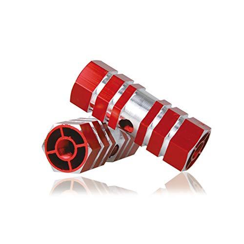 Wudi 1 Paire essieu Pied Pegs Stunt Pédale d'essieu Pédale en Alliage d'aluminium Pied Stunt Pegs Cylindre pour VTT Faire du vélo-Rouge